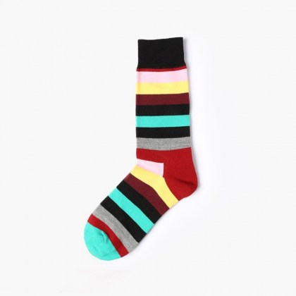 Maroon stripe Sock