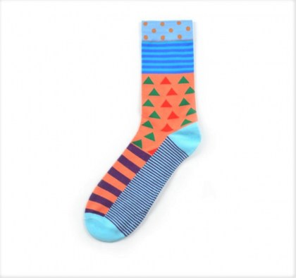 Multi Color Shape Sock