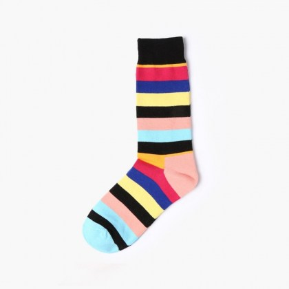 Peach Stripe Sock