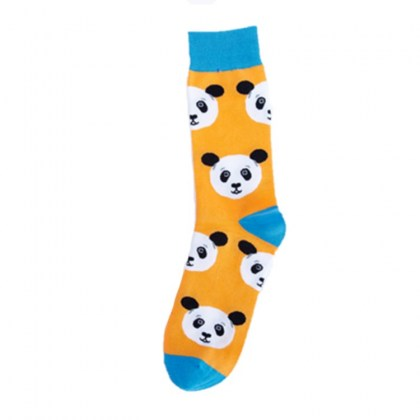 Yellow Panda Sock